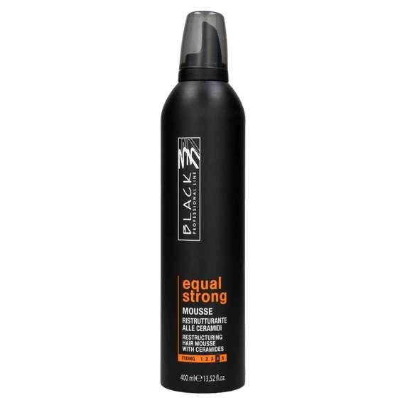 Black Equal Strong Hair Mousse odżywcza pianka z ceramidami mocna 400 ml